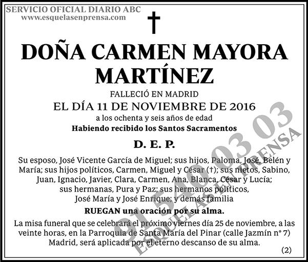 Carmen Mayora Martínez